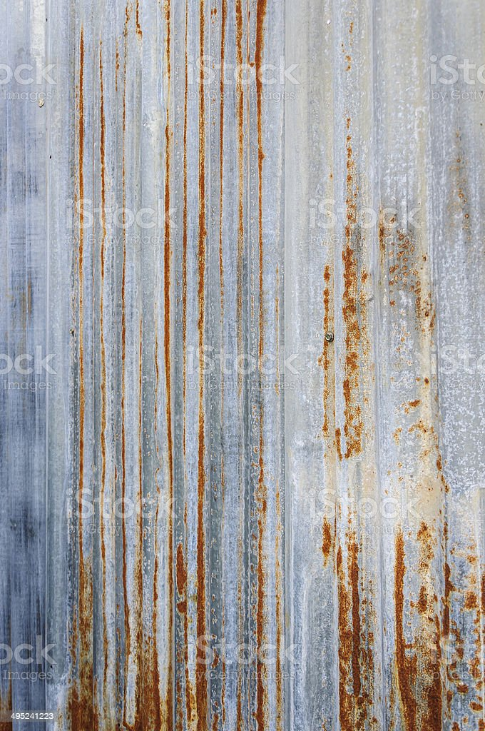 rusty corrugated metal wall stock photo