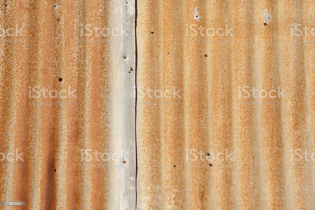 Rusty Corrugated Siding, Empty, Background, Pattern, grunge stock photo