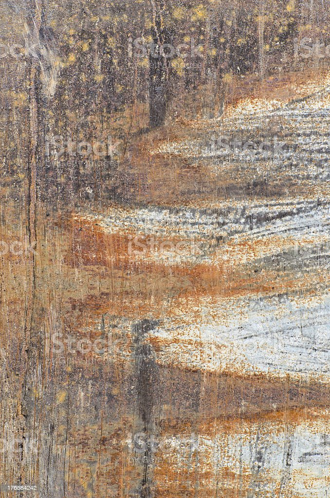 Rusty damage steel plate for background user royalty-free stock photo