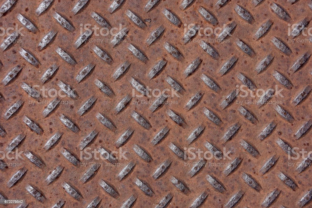 rusty diamond plate design stock photo