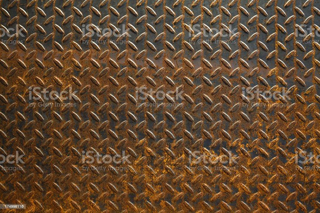 Rusty Diamond Plate royalty-free stock photo