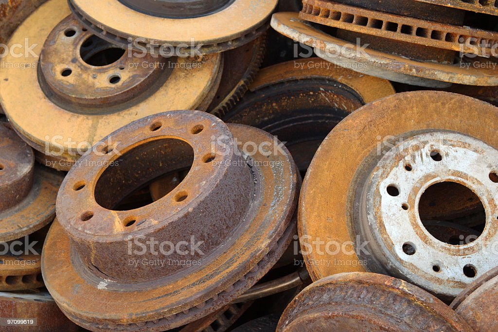 Rusty Disc Brakes royalty-free stock photo