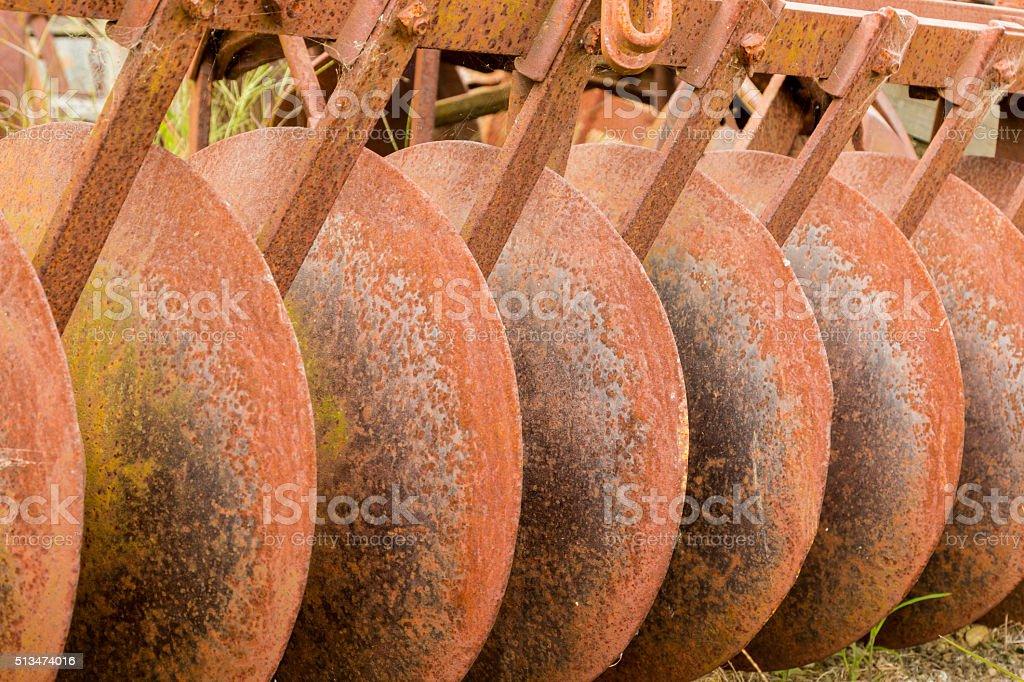 Rusty Disks stock photo