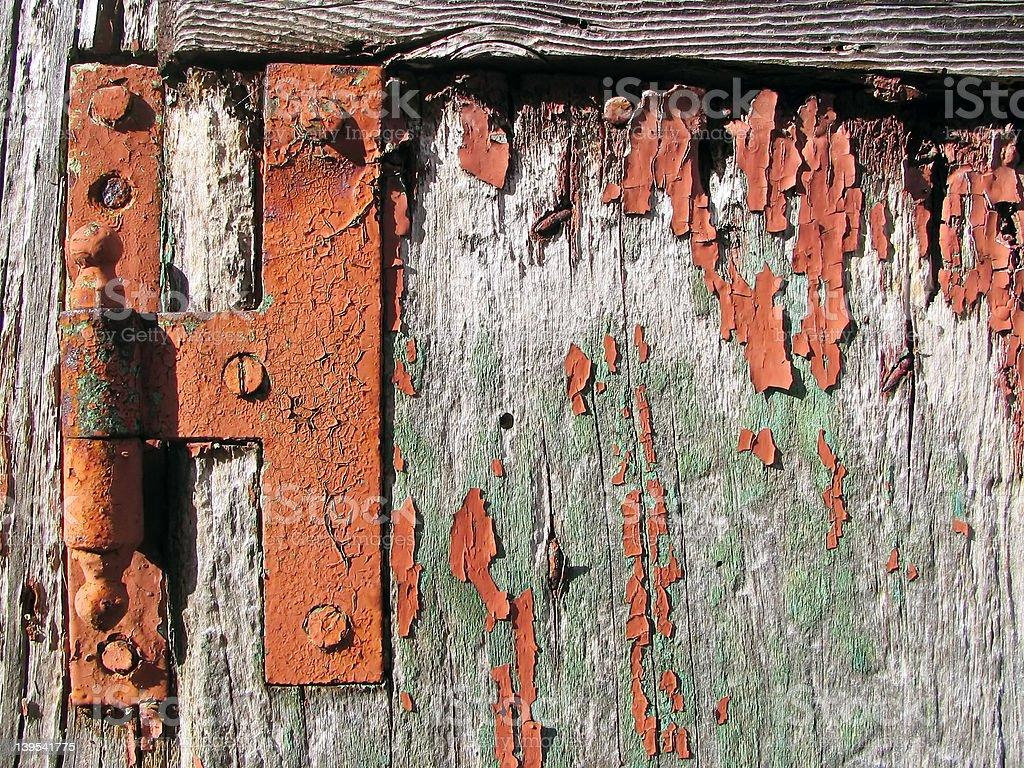 Rusty door stock photo