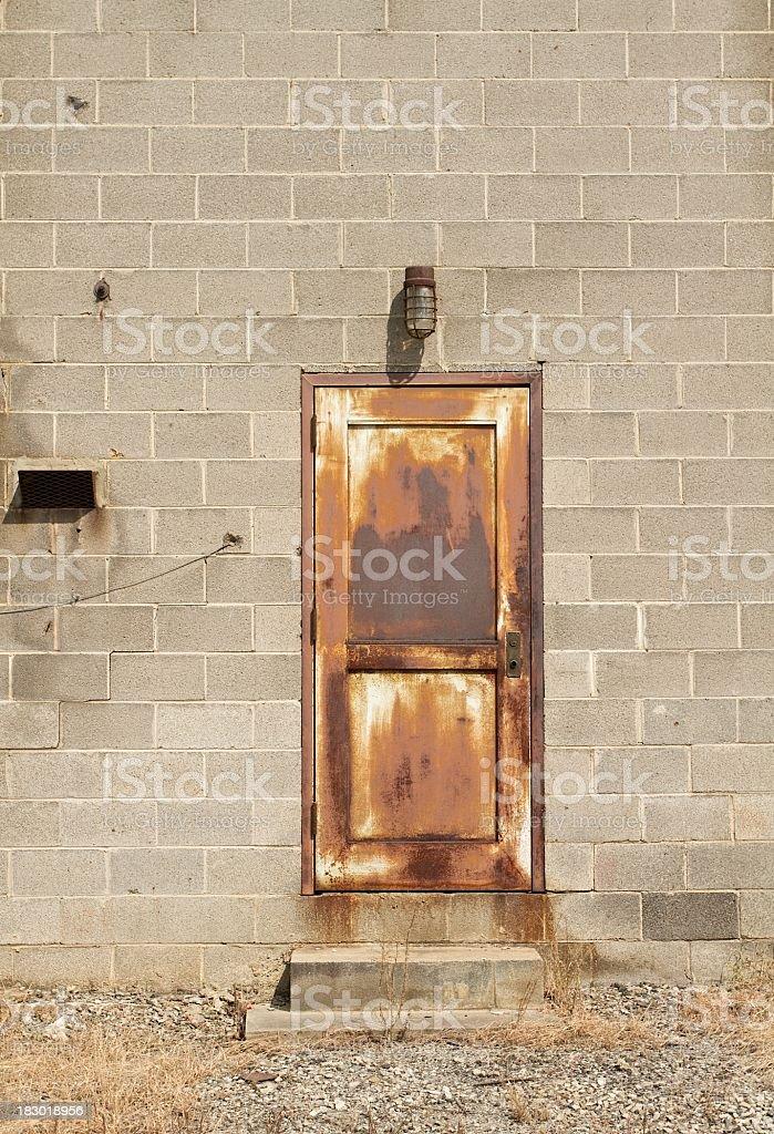 rusty door royalty-free stock photo