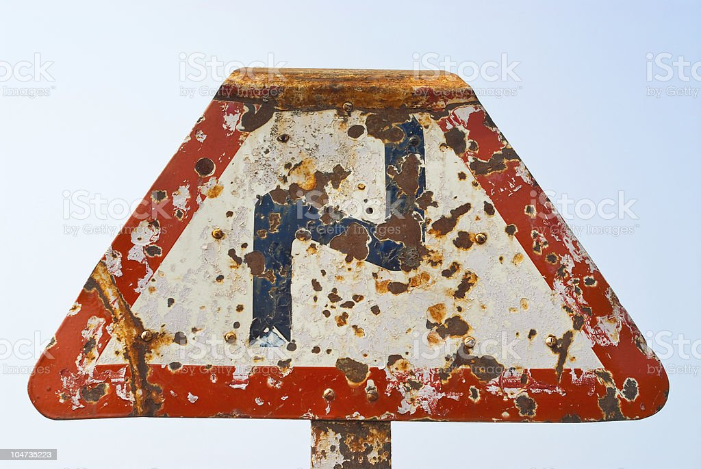 Rusty double bend royalty-free stock photo