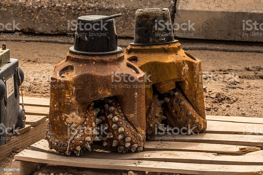 Rusty drill bits stock photo