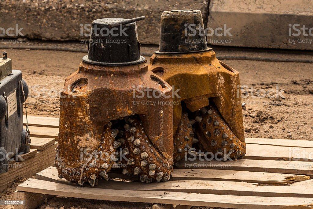 Rusty drill bits stock photo