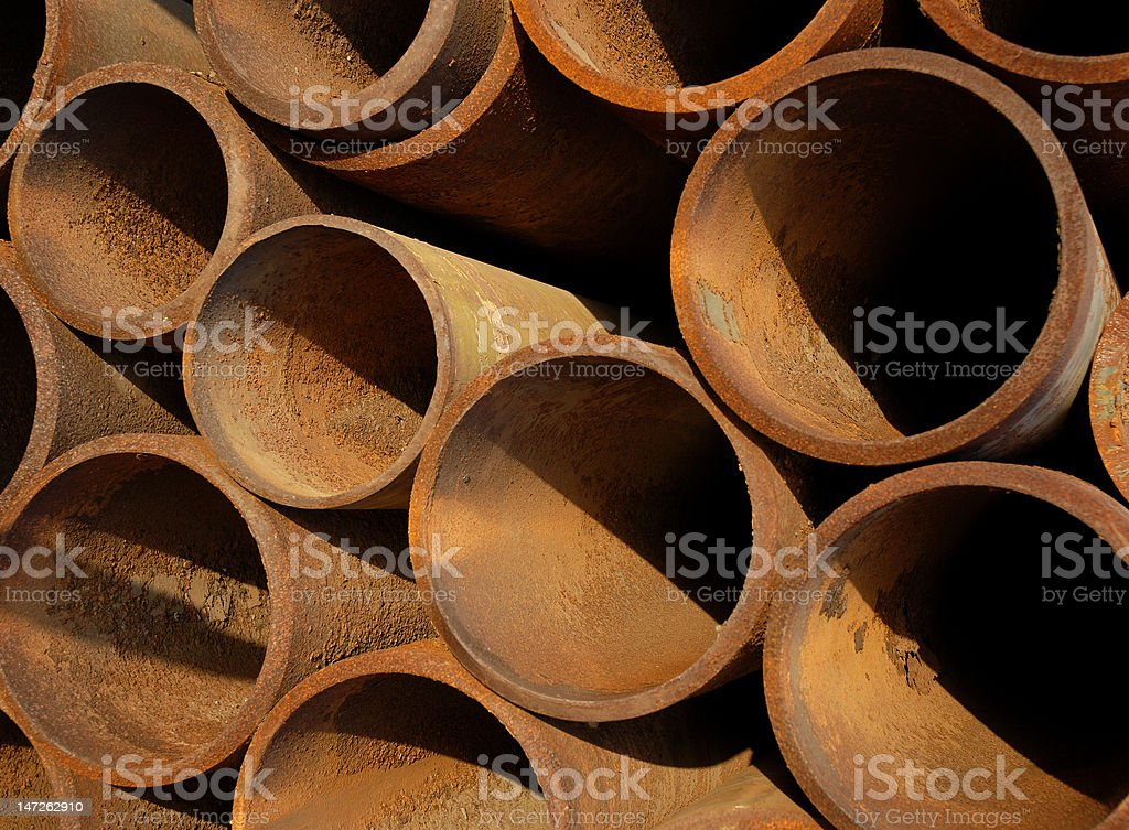Rusty Drilling Tubes royalty-free stock photo
