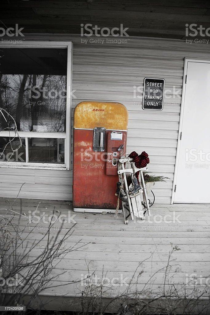 Rusty Drink Machine royalty-free stock photo