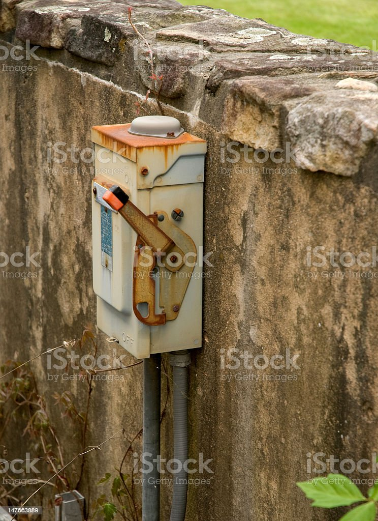 Rusty Electrical Box royalty-free stock photo