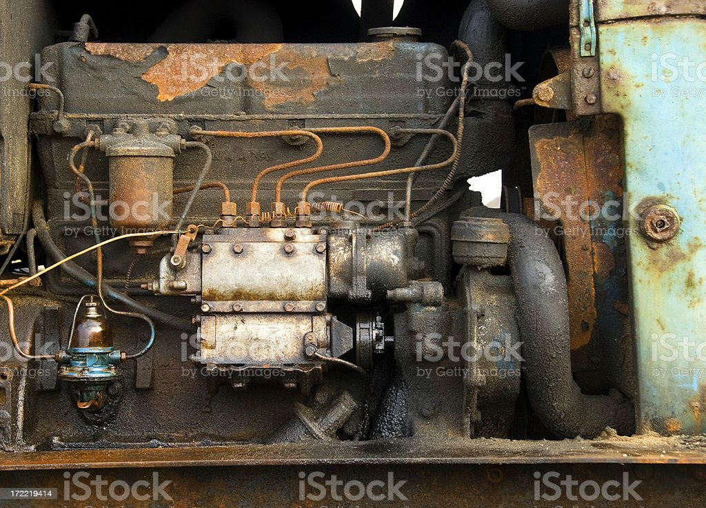 Rusty engine royalty-free stock photo