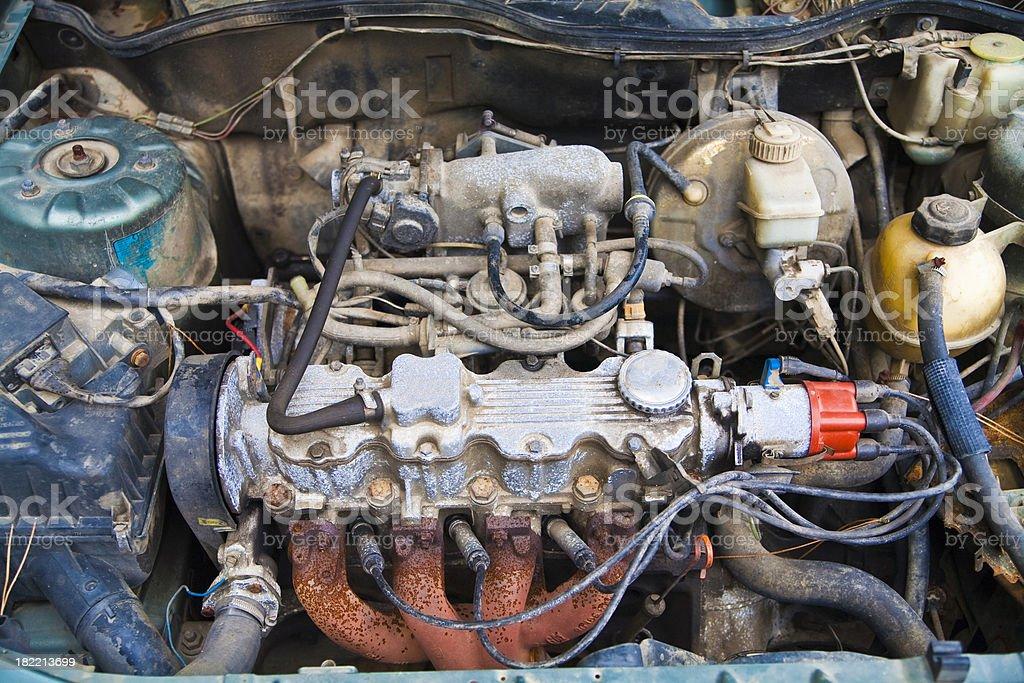 Rusty engine stock photo