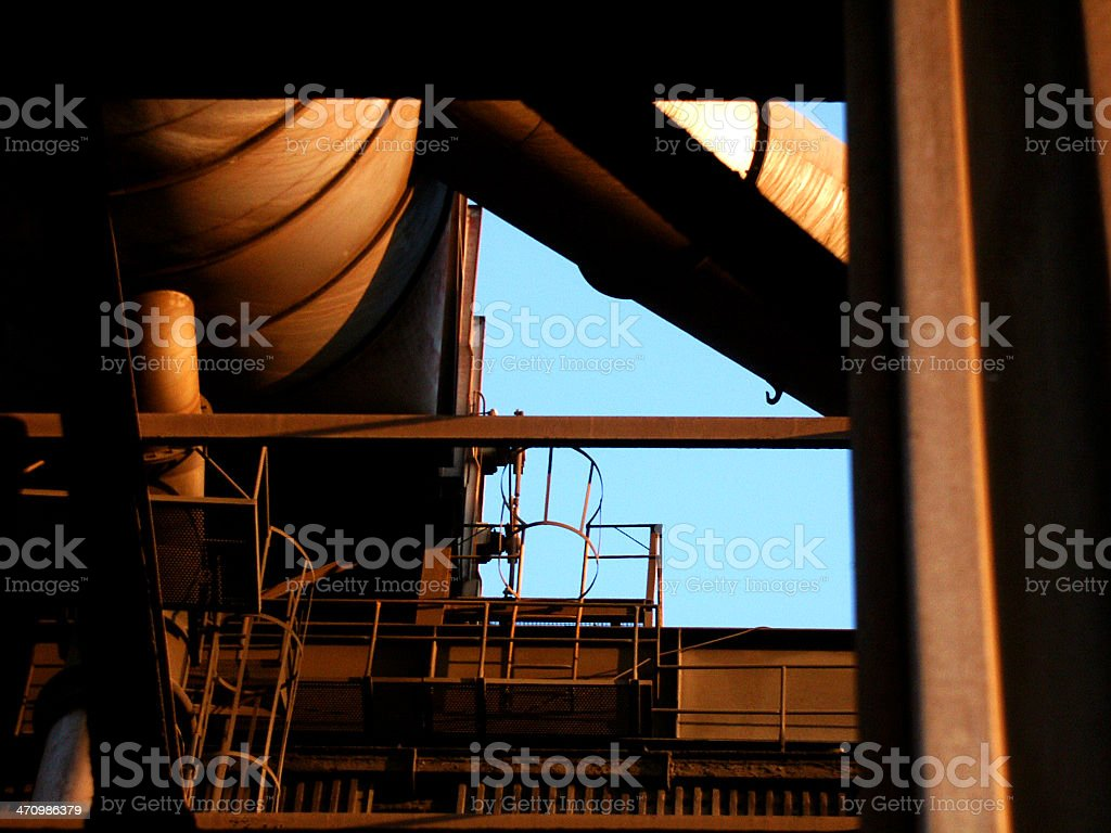 rusty factory royalty-free stock photo
