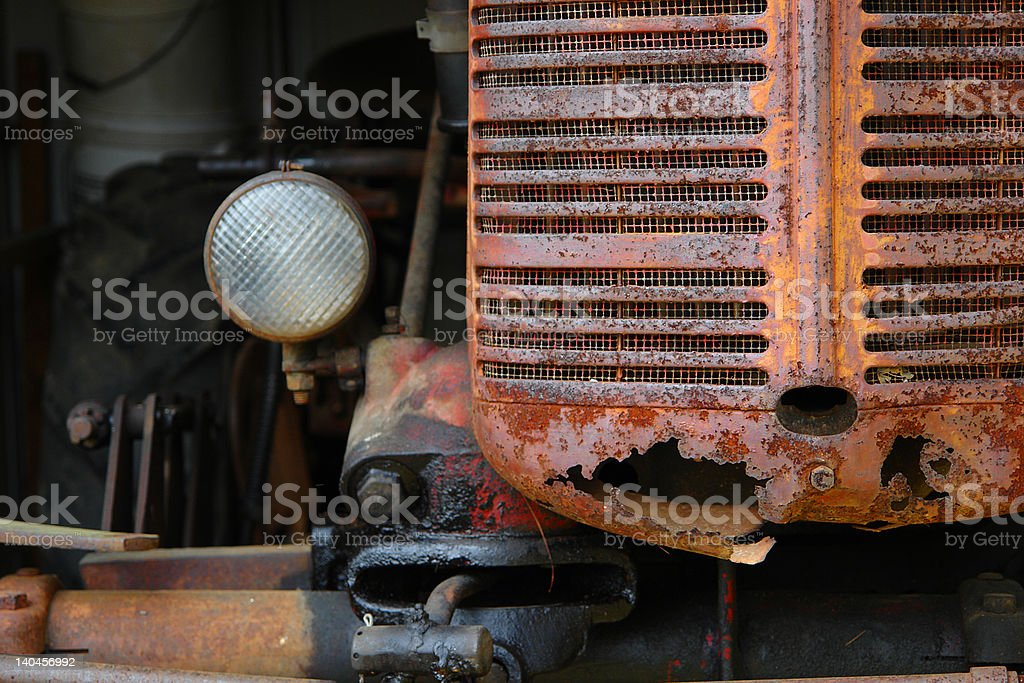 Rusty farm tractor royalty-free stock photo