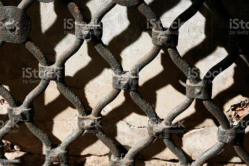 Rusty fence royalty-free stock photo