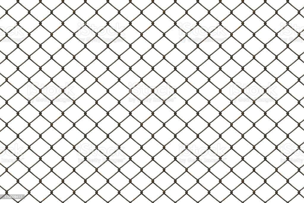 Rusty fence stock photo