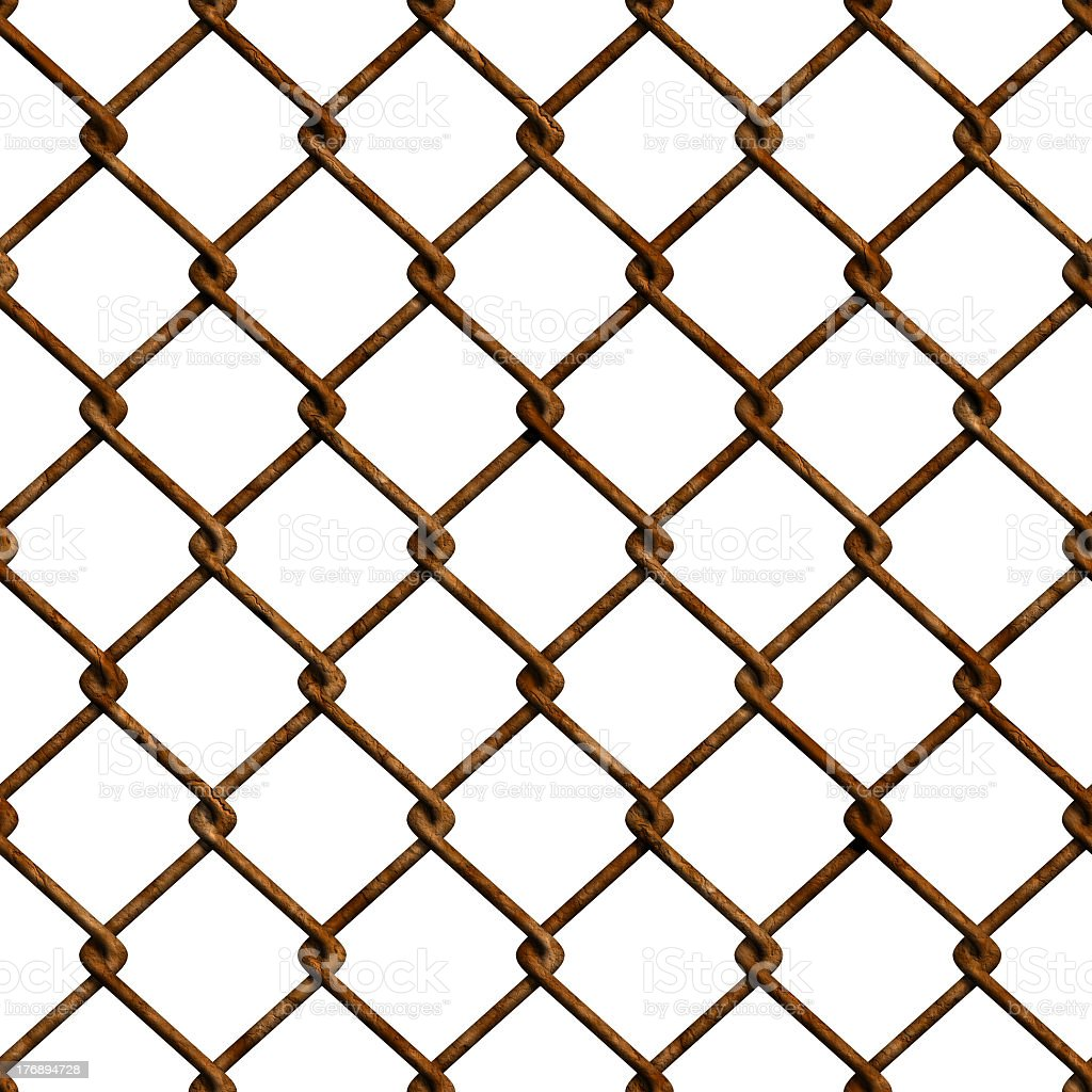Rusty fence (Seamless texture) stock photo
