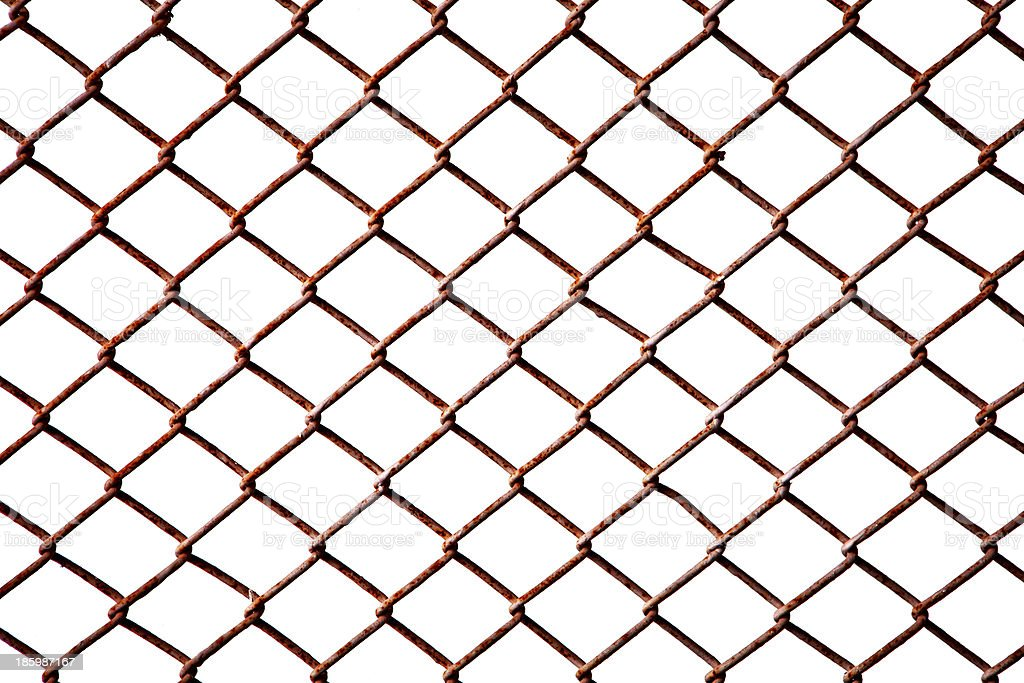 Rusty fence (Seamless texture) royalty-free stock photo