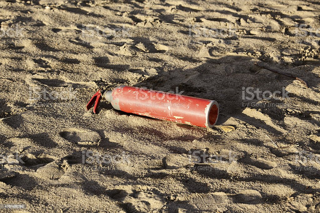 Rusty Fire Extinguisher royalty-free stock photo