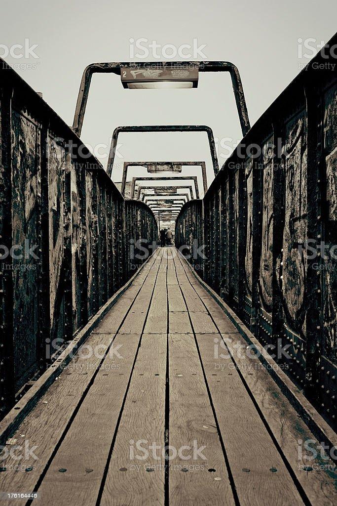 Rusty footbridge royalty-free stock photo