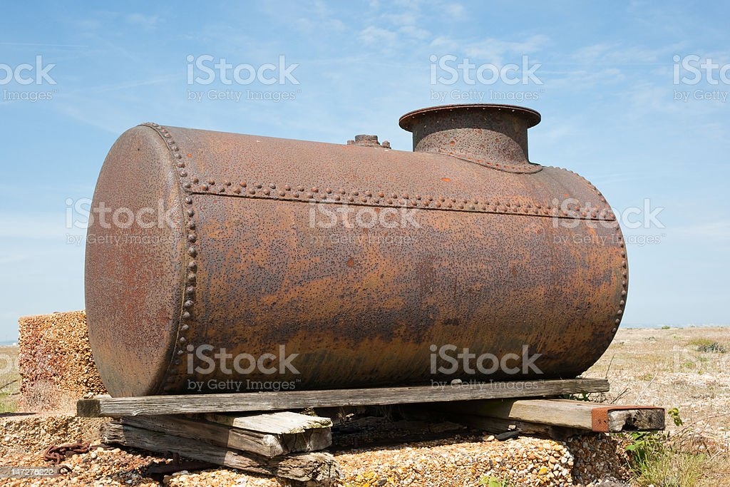 Rusty fuel tank royalty-free stock photo