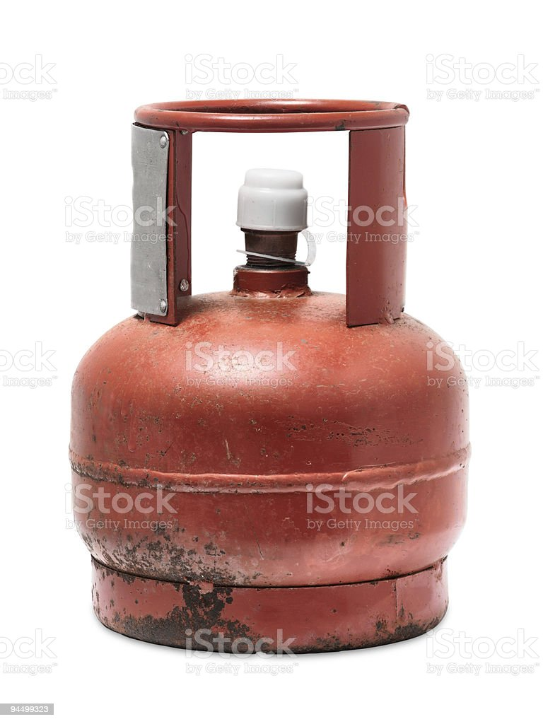 Rusty gas bottle royalty-free stock photo