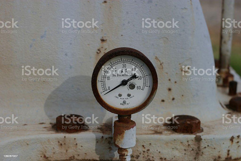 rusty gauge 2 royalty-free stock photo