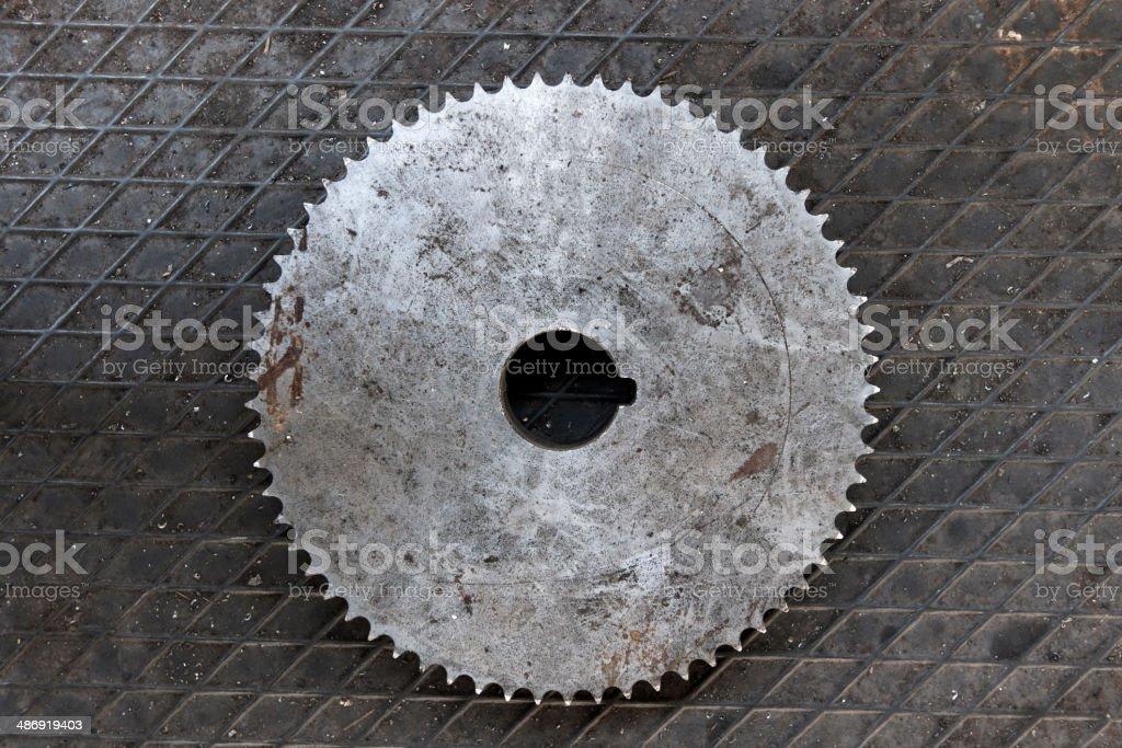 Rusty gear royalty-free stock photo