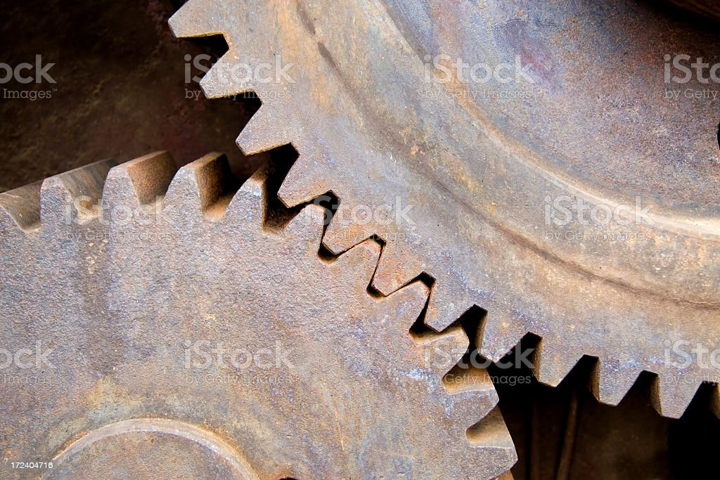 Rusty gear wheels royalty-free stock photo