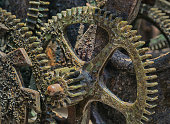 Rusty Gears of a Giant and Medieval Clock