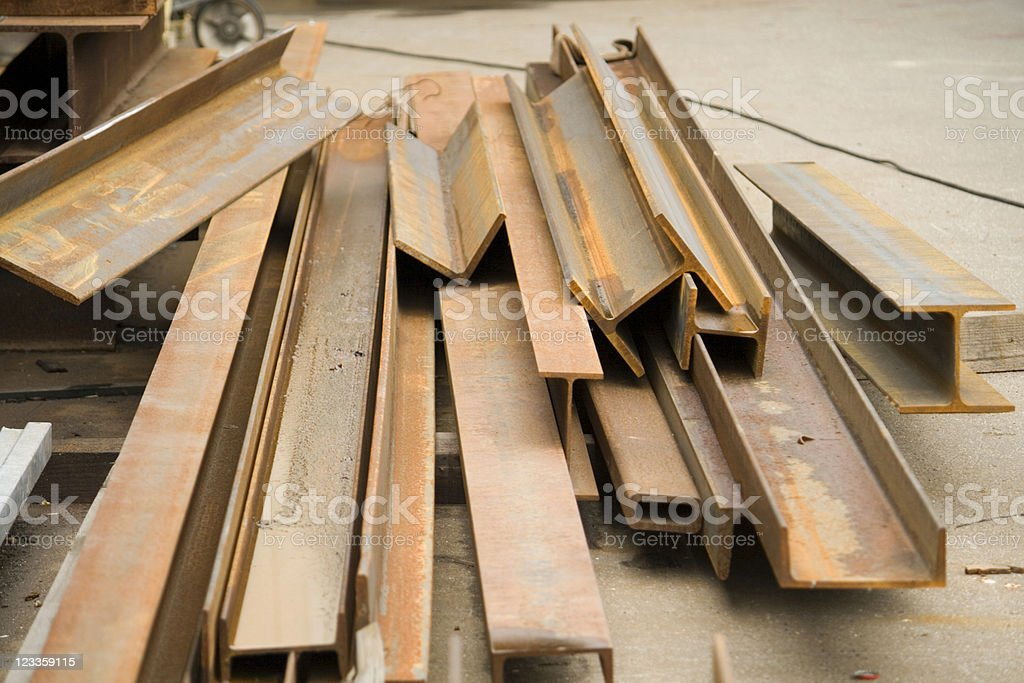 Rusty girder stock photo