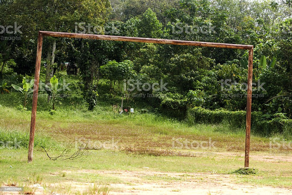 Rusty Goal Post royalty-free stock photo