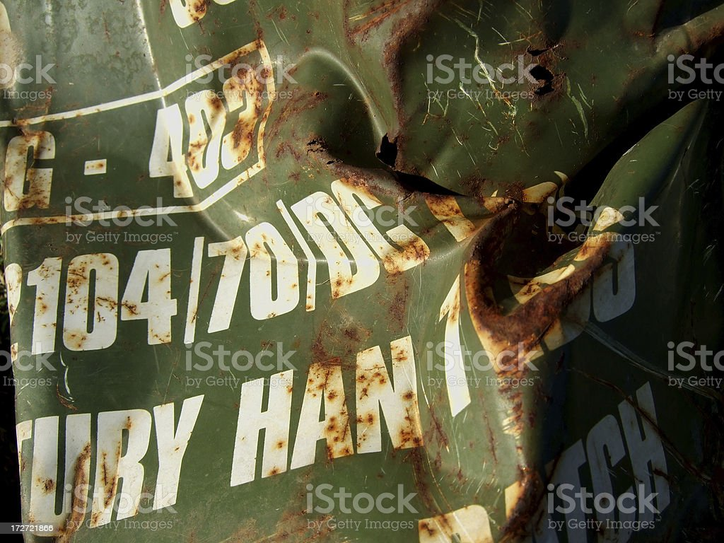 rusty green barrel royalty-free stock photo