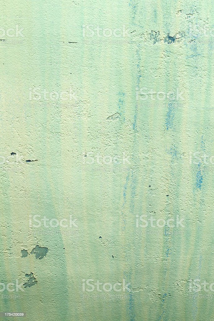 Rusty green grunge background with stains and leaks royalty-free stock photo