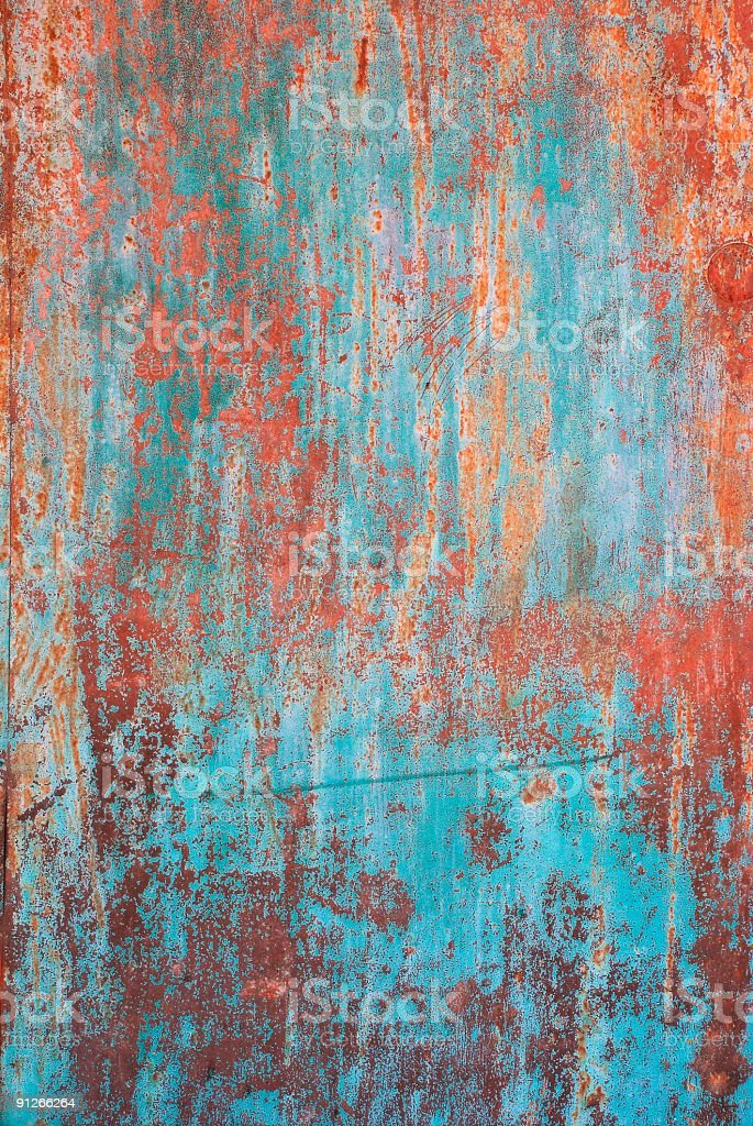 A rusty, grunge background in blue stock photo