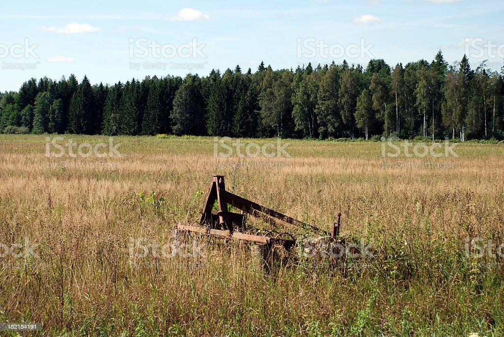 Rusty harrow royalty-free stock photo