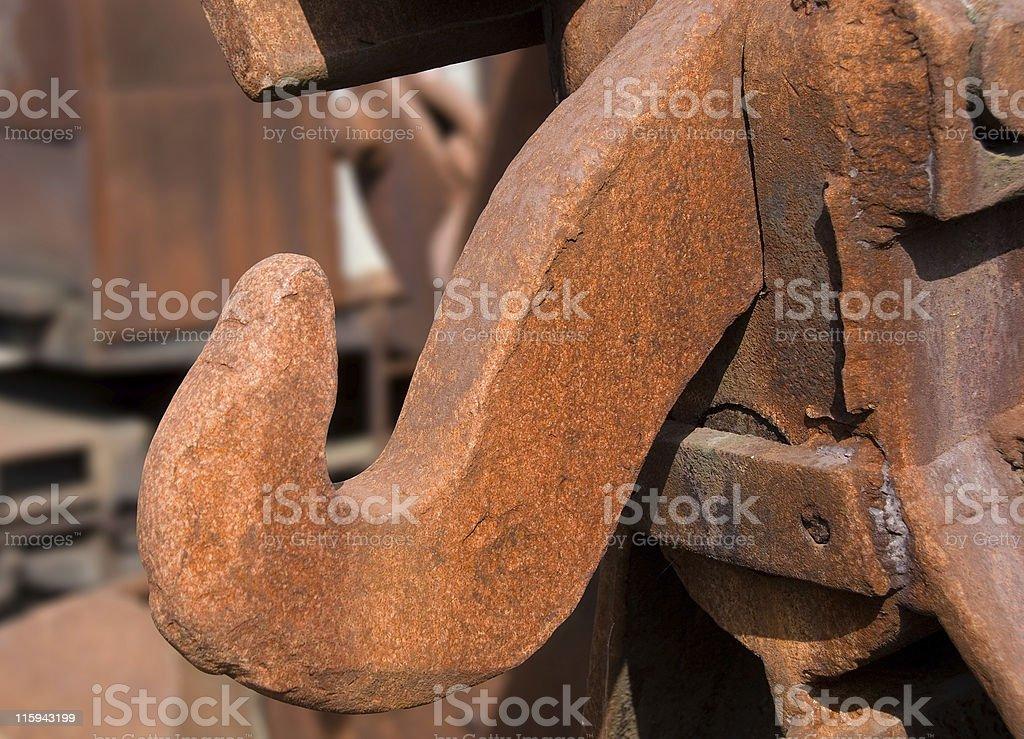 Rusty heavy iron hook  multicolored royalty-free stock photo