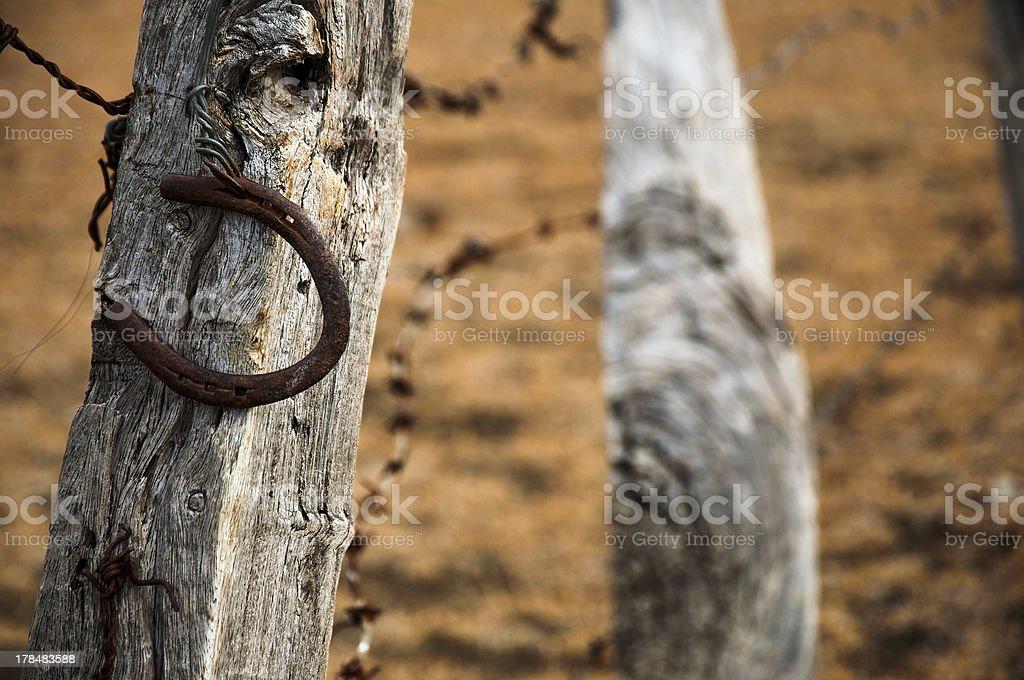 Rusty Horseshoe royalty-free stock photo