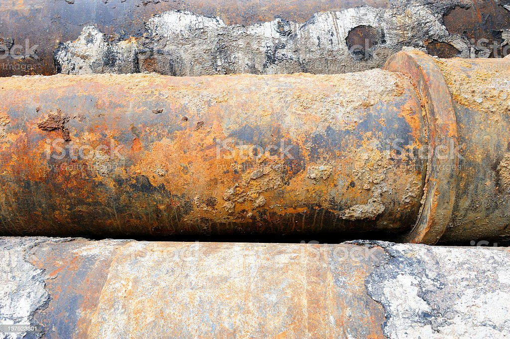 Rusty huge pipes royalty-free stock photo