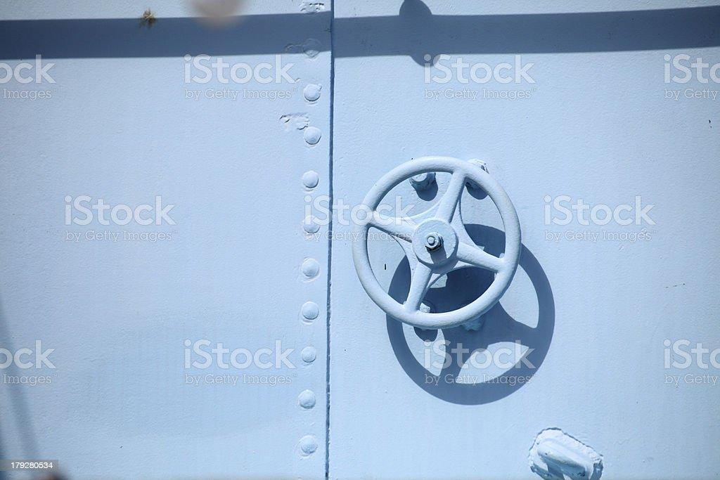 rusty industrial faucet wheel royalty-free stock photo