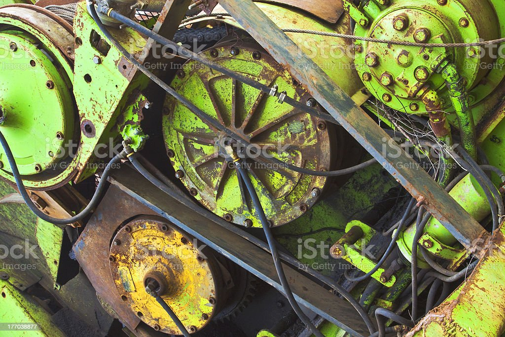 Rusty Industrial Hydraulic 2 royalty-free stock photo