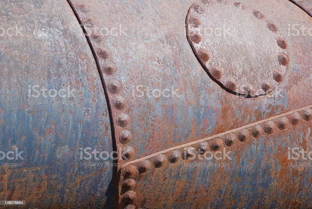 Rusty Iron Barrel royalty-free stock photo