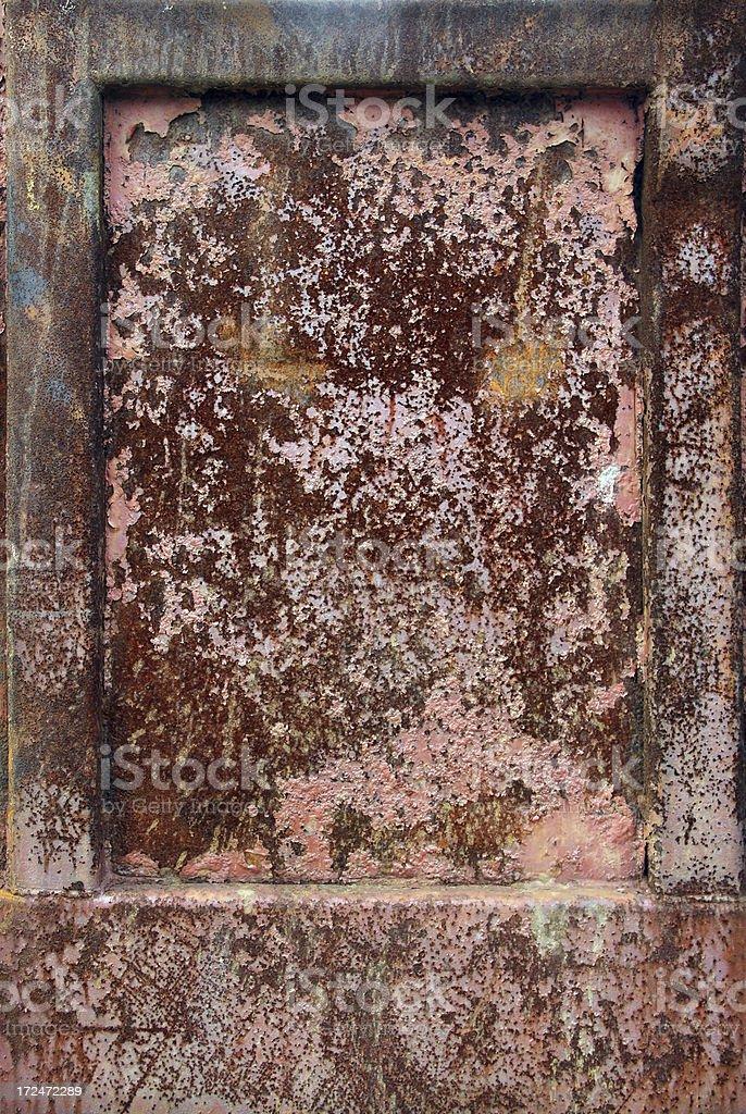 Rusty Iron Panel royalty-free stock photo