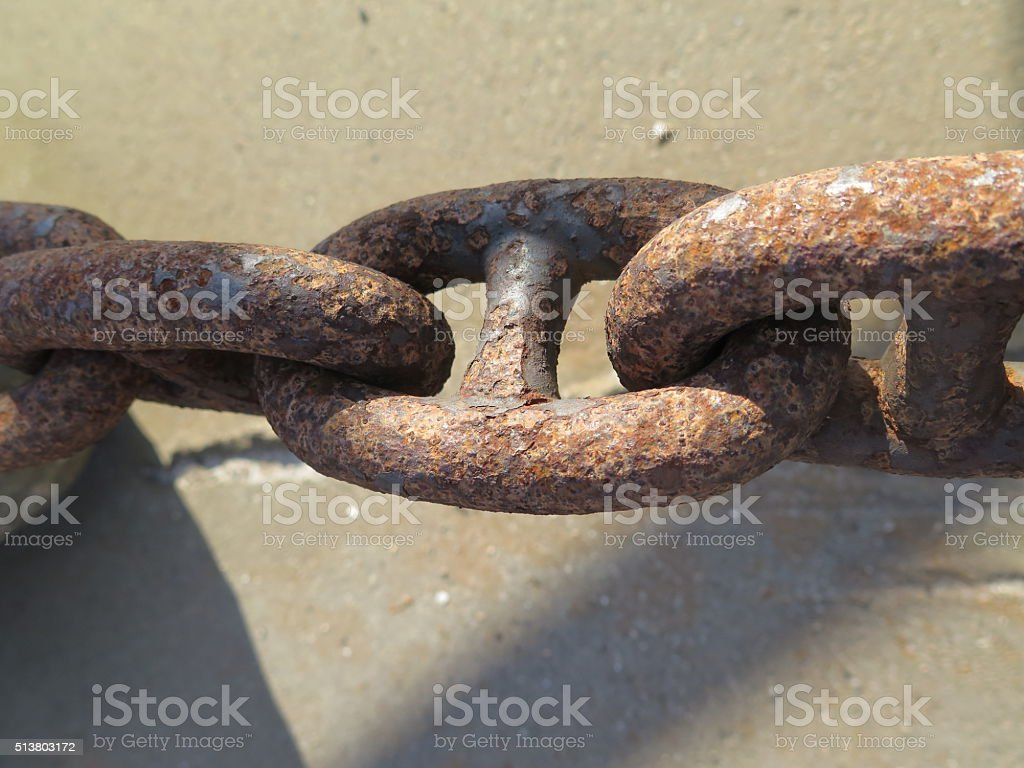 Rusty irons Chains stock photo