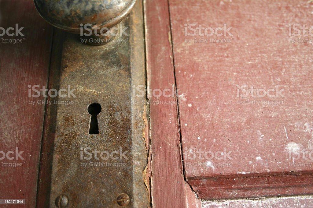 Rusty Keyhole royalty-free stock photo