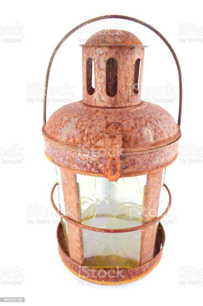 Rusty Lantern stock photo