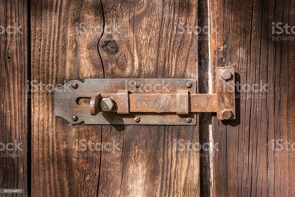 Rusty latch royalty-free stock photo