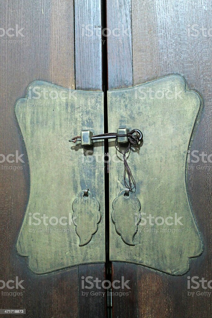 rusty lock and door royalty-free stock photo