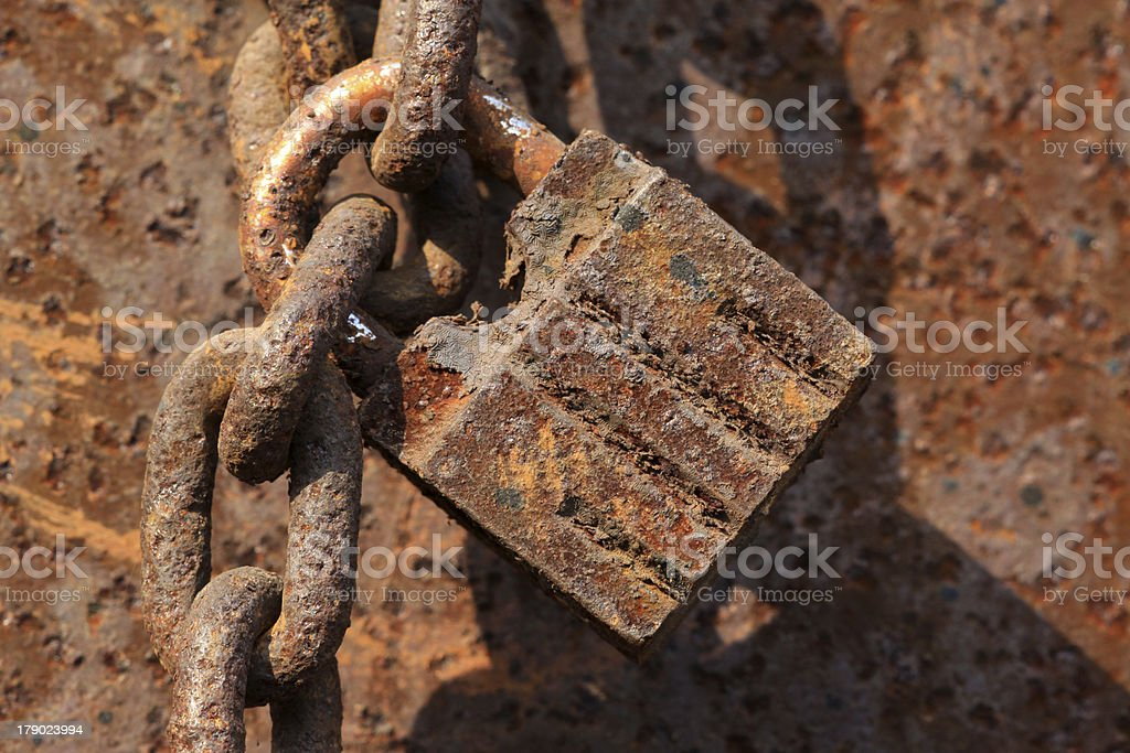 rusty lock royalty-free stock photo